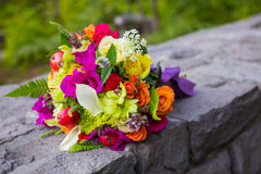 Bridal Bouquet Mixed Flowers Royalty Free Stock Photo
