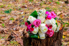Bridal Bouquet on old and elegant royalty free stock image