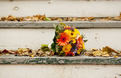 Bridal bouquet outside Stock Images