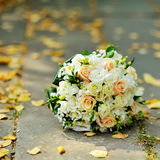 Bridal bouquet. Outside, sunny autumn day Stock Images