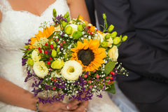 Bridal bouquet. Photo taken in the church Royalty Free Stock Images