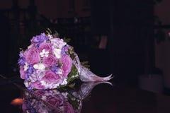 Bridal Bouquet on Piano Stock Photos