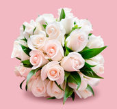 Bridal bouquet, pink background Royalty Free Stock Images