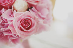 Bridal bouquet of pink roses Royalty Free Stock Image