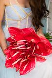 Bridal bouquet with red anthuriums. stock images