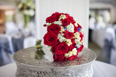 Bridal bouquet of red roses Royalty Free Stock Photo