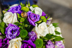 Bridal bouquet with rings Stock Photography