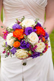 Bridal Bouquet and Rosary Stock Photos