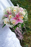 Bridal bouquet with roses Stock Image