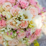 Bridal bouquet of roses Royalty Free Stock Photos