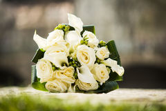 Bridal bouquet of roses Stock Photos