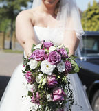 Bridal bouquet with roses Royalty Free Stock Photography