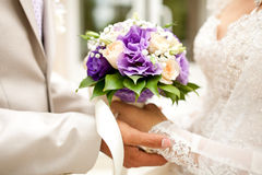Bridal Bouquet with Roses Royalty Free Stock Photos