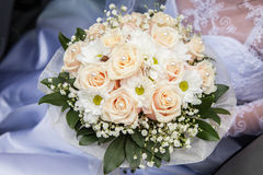 Bridal bouquet with roses Royalty Free Stock Images
