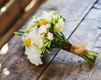 Bridal bouquet with roses and freesia Stock Photography