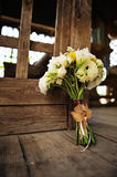 Bridal bouquet with roses and freesia Stock Images