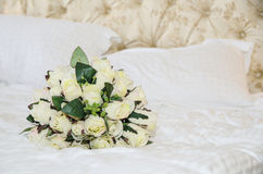 Bridal bouquet of roses hand-made Royalty Free Stock Photos