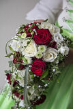 Bridal bouquet with roses Royalty Free Stock Photo