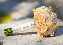 Bridal bouquet of roses Stock Images
