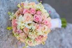 Bridal bouquet of roses Royalty Free Stock Photography