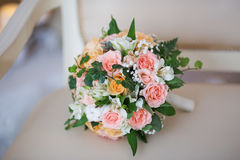 A bridal bouquet of roses Royalty Free Stock Photography