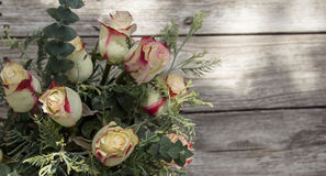 Bridal bouquet of roses at a wedding on Valentine's Day Royalty Free Stock Images