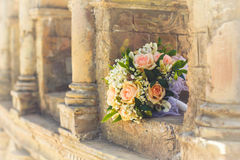 Bridal bouquet with roses Stock Photography