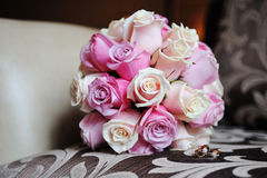 Bridal bouquet of roses Stock Image