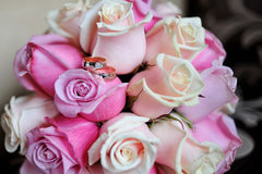 Bridal bouquet of roses Stock Photography