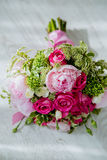 Bridal bouquet with roses. Stock Photo