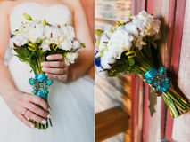 Bridal bouquet. Set bridal bouquet in hand Royalty Free Stock Images