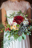 Bridal bouquet with succulent Royalty Free Stock Photos