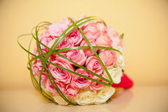 Bridal bouquet  on the table Royalty Free Stock Images