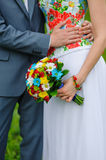 Bridal bouquet in the Ukrainian style Stock Photo