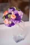 Bridal bouquet of various flowers. Bridal beautiful romantic bouquet of various flowers Royalty Free Stock Photos