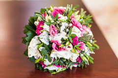 Bridal bouquet of various flowers Stock Photography