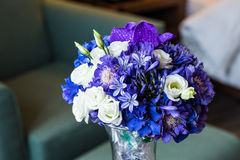 Bridal bouquet of various flowers Royalty Free Stock Photography