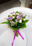 Bridal bouquet of various flowers. Royalty Free Stock Photography