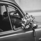 Bridal bouquet of various flowers Royalty Free Stock Images