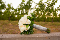 Bridal Bouquet in Vineyard Stock Photos