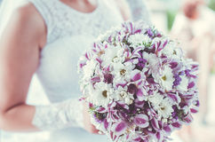 Bridal bouquet in violet tones Stock Photography