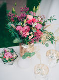 Bridal bouquet. Wedding bouquet composed of pink flowers Stock Images