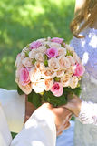 Bridal bouquet on wedding day Stock Photography