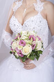 Bridal bouquet on wedding day Royalty Free Stock Photos