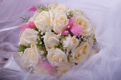 Bridal bouquet on wedding day Stock Photo