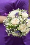 Bridal bouquet on wedding day Stock Photos