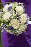 Bridal bouquet on wedding day Royalty Free Stock Photography