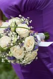 Bridal bouquet on wedding day Royalty Free Stock Photo