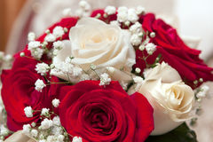 Bridal bouquet at a wedding party Royalty Free Stock Photography
