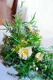 Bridal bouquet. Wedding. Succulents, greenery and roses Royalty Free Stock Images